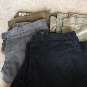 Men's Khaki Shorts Bundle of 4